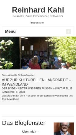 Vorschau der mobilen Webseite www.reinhardkahl.de, Kahl, Reinhard