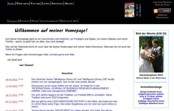 Vorschau von www.im-chaos-daheim.de, Kessler, Emanuel