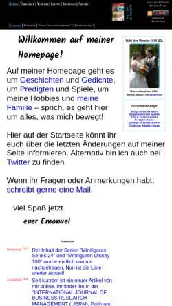 Vorschau der mobilen Webseite www.im-chaos-daheim.de, Kessler, Emanuel