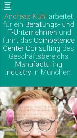 Vorschau der mobilen Webseite www.andreas-kuhl.de, Kuhl, Andreas