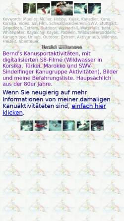 Vorschau der mobilen Webseite www.be-mu.de, Müller, Familie