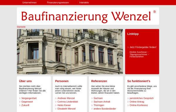 Vorschau von www.baufinanzierung-wenzel.de, Baufinanzierung Wenzel - Elisabeth Wenzel