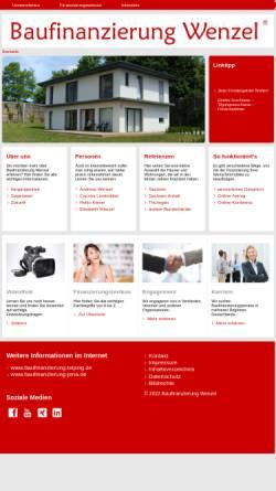 Vorschau der mobilen Webseite www.baufinanzierung-wenzel.de, Baufinanzierung Wenzel - Elisabeth Wenzel