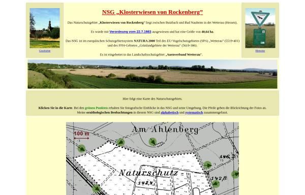 Vorschau von www.klosterwiesen.de, Naturschutzgebiet Klosterwiesen von Rockenberg