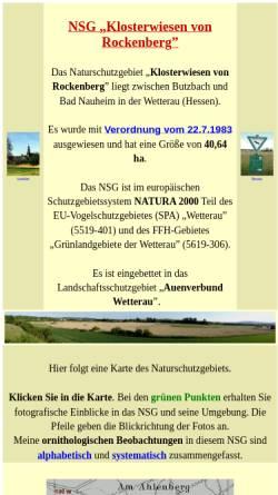 Vorschau der mobilen Webseite www.klosterwiesen.de, Naturschutzgebiet Klosterwiesen von Rockenberg