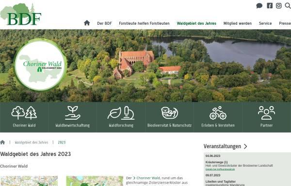Vorschau von www.waldgebiet-des-jahres.de, Abstimmung zum Waldgebiet des Jahres