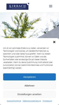 Vorschau der mobilen Webseite www.kirbach-schroeder.de, Kirbach Schröder