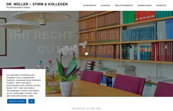 Vorschau von kanzlei-stirm.de, Dr. Müller - Stirm & Kollegen