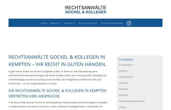 Vorschau von gockelundkollegen.de, Kanzlei Gockel & Kollegen