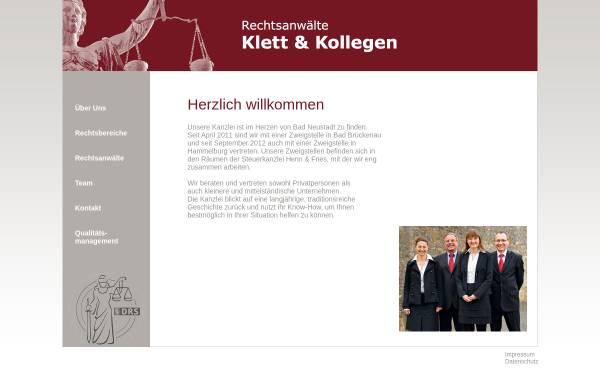 Vorschau von www.kanzlei-klett.de, Kanzlei Klett und Kollegen