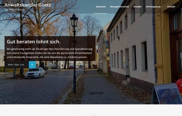 Vorschau von www.anwaltskanzlei-goetz.de, Anwaltskanzlei Goetz