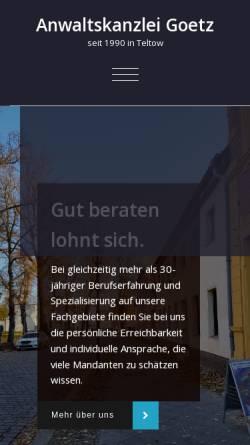 Vorschau der mobilen Webseite www.anwaltskanzlei-goetz.de, Anwaltskanzlei Goetz