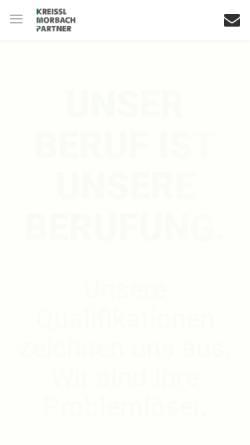 Vorschau der mobilen Webseite www.kreissl-morbach.de, Kreissl Morbach Rechtsanwälte