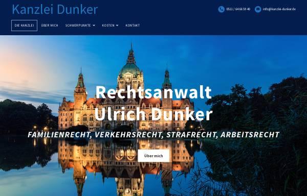 Vorschau von www.kanzlei-dunker.de, Rechtsanwalt Ulrich Dunker