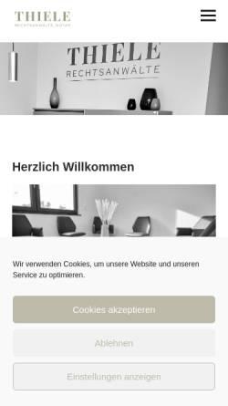 Vorschau der mobilen Webseite www.hundeshagen.de, Hundeshagen&Coll. Rechtsanwälte und Notar