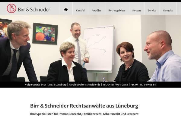Vorschau von www.birr-schneider.de, Birr & Schneider - Rechtsanwaltssozietät