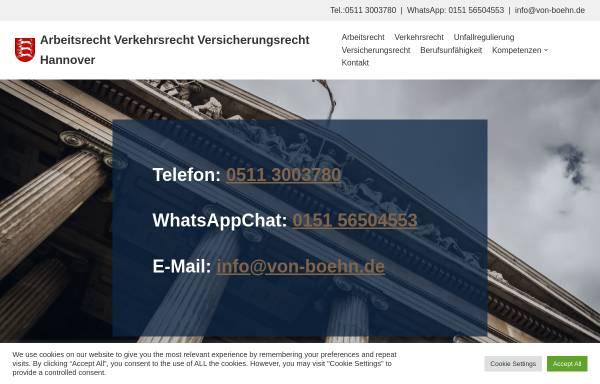 Vorschau von www.von-boehn.de, Rechtsanwalt und Fachanwalt von Boehn