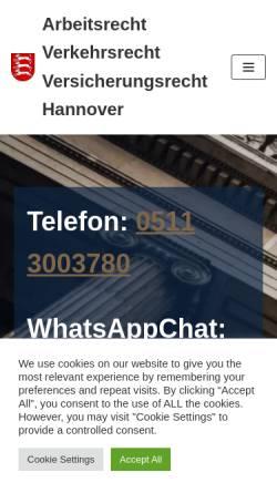 Vorschau der mobilen Webseite www.von-boehn.de, Rechtsanwalt und Fachanwalt von Boehn