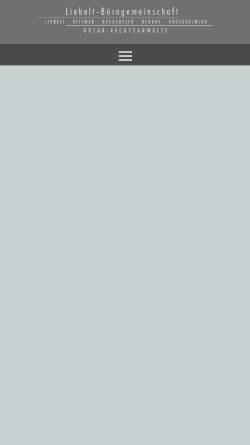 Vorschau der mobilen Webseite wp-liebelt.design-marketing-schaumburg.de, Kanzlei Liebelt & Koll.