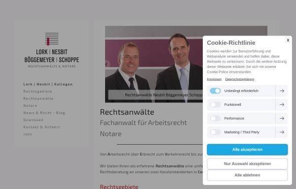 Vorschau von www.nesbit-kollegen.de, Nesbit I Böggemeyer I Schoppe