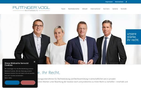 Vorschau von www.puttinger-vogl.at, Puttinger - Vogl & Partner Rechtsanwälte GmbH