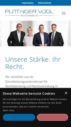 Vorschau der mobilen Webseite www.puttinger-vogl.at, Puttinger - Vogl & Partner Rechtsanwälte GmbH