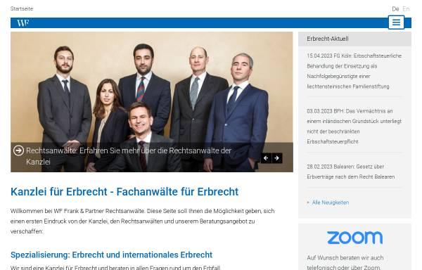 Vorschau von www.wf-kanzlei.de, Wiens, Frank & Partner