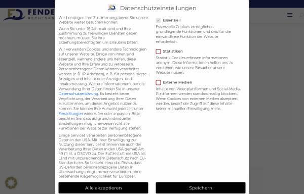 Vorschau von www.verkehrsrecht-fachanwalt.com, Kanzlei Fenderl & Dietrich