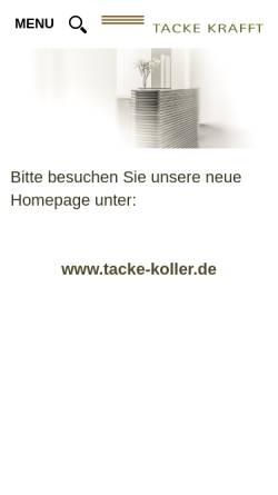 Vorschau der mobilen Webseite www.tacke-krafft.de, Tacke Krafft