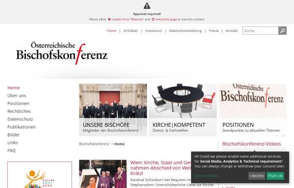 Vorschau von www.bischofskonferenz.at, Österreichische Bischofskonferenz