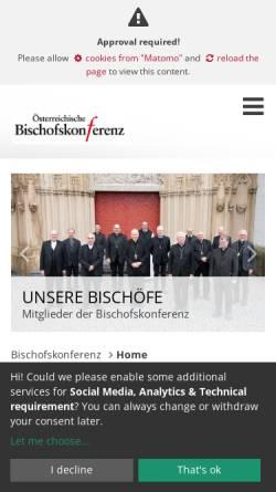 Vorschau der mobilen Webseite www.bischofskonferenz.at, Österreichische Bischofskonferenz