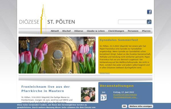 Vorschau von www.dsp.at, Diözese St. Pölten
