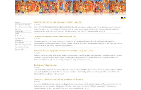 Vorschau von www.ukrainische-kirche.de, Apostolische Exarchie für katholische Ukrainer in Deutschland