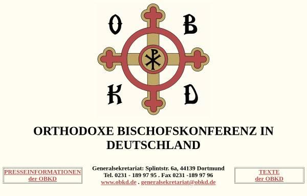 Vorschau von www.obkd.de, Orthodoxe Bischofskonferenz in Deutschland