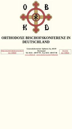 Vorschau der mobilen Webseite www.obkd.de, Orthodoxe Bischofskonferenz in Deutschland