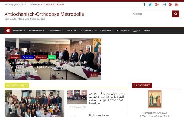 Vorschau von rum-orthodox.de, Antiochenisch-Orthodoxe Metropolie von Deutschland und Mitteleuropa