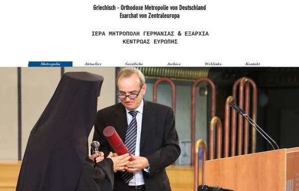 Vorschau von www.orthodoxie.net, Die griechisch-orthodoxe Metropolie von Deutschland