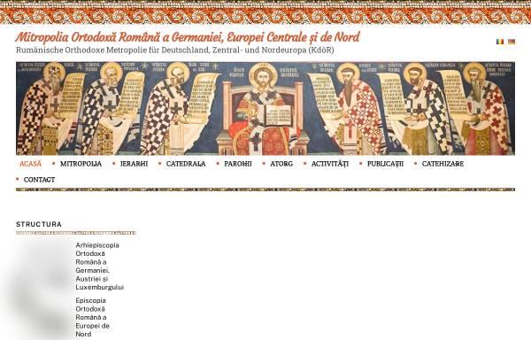 Vorschau von www.mitropolia-ro.de, Rumänisch-orthodoxe Metropolie für Deutschland und Zentraleuropa