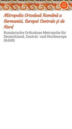 Vorschau der mobilen Webseite www.mitropolia-ro.de, Rumänisch-orthodoxe Metropolie für Deutschland und Zentraleuropa