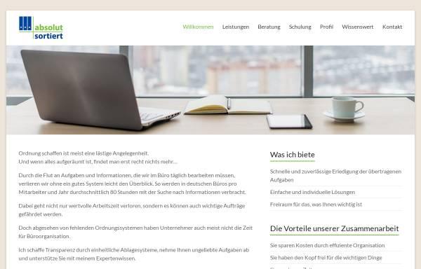 Vorschau von www.absolut-sortiert.de, Absolut sortiert - Christine Widmayer