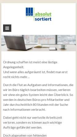 Vorschau der mobilen Webseite www.absolut-sortiert.de, Absolut sortiert - Christine Widmayer