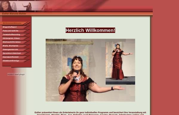 Vorschau von www.esther-manuela.com, Esther Manuela Mahler