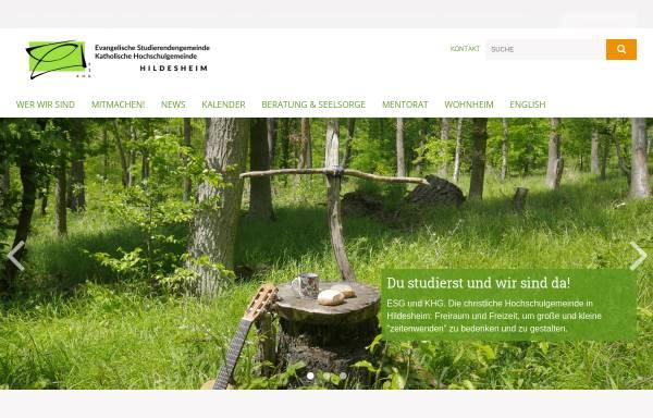 Vorschau von www.khg-esg-hildesheim.de, KHG und ESG Hildesheim