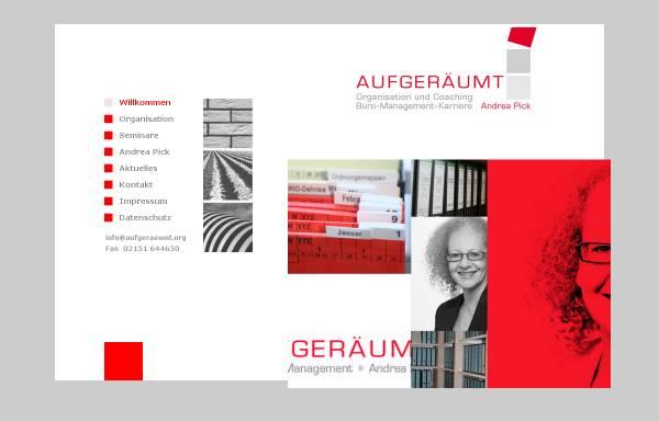 Vorschau von www.aufgeraeumt.org, Aufgeräumt, Andrea Pick