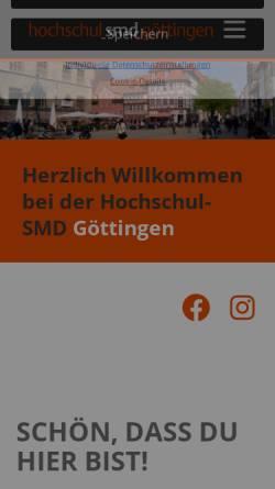 Vorschau der mobilen Webseite www.smd-goettingen.de, Göttingen