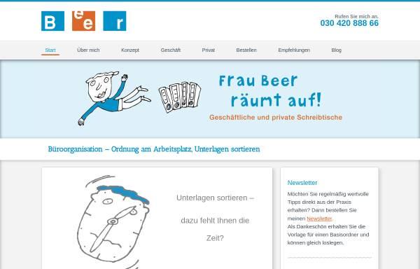 Vorschau von www.beer-sortierservice.de, Beer Sortier- und Organisations-Service, Christa Beer
