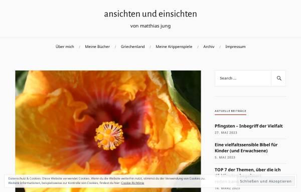 Vorschau von www.matthias-jung.de, Predigten und Privates von Pfarrer Matthias Jung