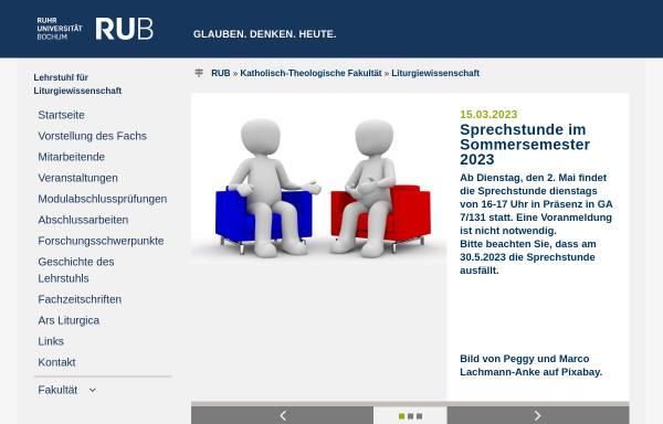 Vorschau von www.ruhr-uni-bochum.de, Liturgiewissenschaftliche Texte