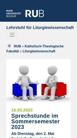 Vorschau der mobilen Webseite www.ruhr-uni-bochum.de, Liturgiewissenschaftliche Texte