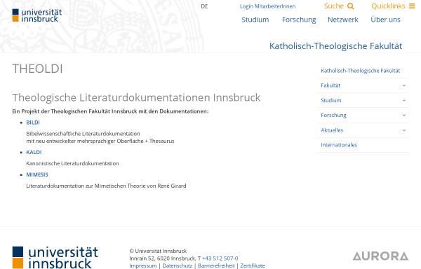 Vorschau von www.uibk.ac.at, Theologische Literaturdokumentation der Uni Innsbruck